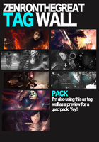 Tag wall - psd pack by zenron