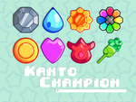 [Vector] Kanto Badges by pbcpony