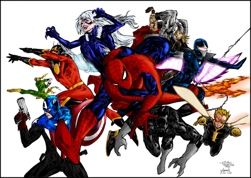 Marvel coloring final by RowanSL