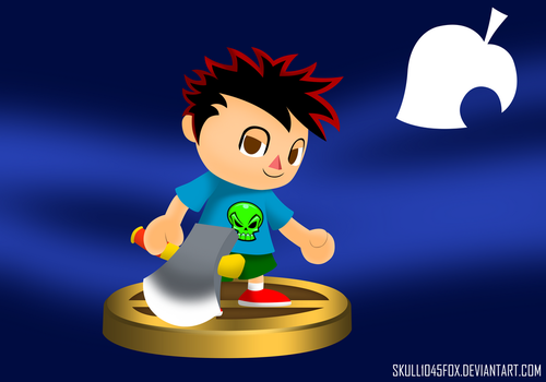 SSB4 Villager Alex by skull1045fox