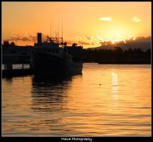 Harbor Sunset by manaphoto
