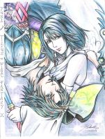 yuna and tidus by akeya22