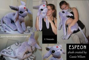 Plushie - Espeon by Shalie