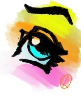 Colorful Eye Doodle by Nx3Fox