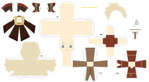 Viking Denmark Papercraft by KimiMonsterKitty