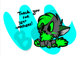 Thank you for 264+ watchers! by Cibibot