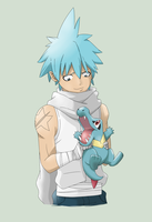 Black Star and Totodile by xXGuntaXx