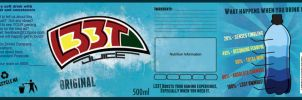 L33T Juice Label Design by Deweythesecond