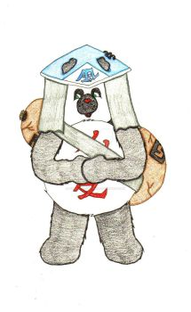 Pan-ai Bear Gaara by missionquestthing