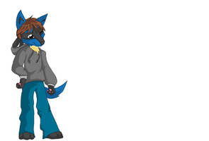 James The Lucario by LonelyWerewolf123