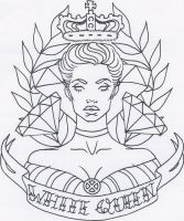 White Queen Tattoo Design by thedanika