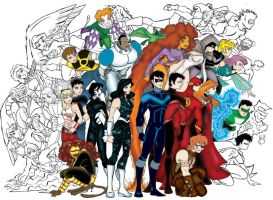 Titans Together by andreshanti