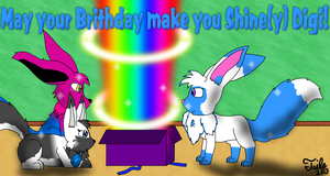 Digi's 2010 Shiny Birthday by Tails230