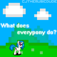 What does everypony do? Cover Art by DJDavid98