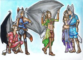 Collab : Famille by CaelaSephyra