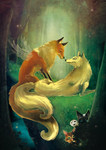 wolf and fox by Zita52