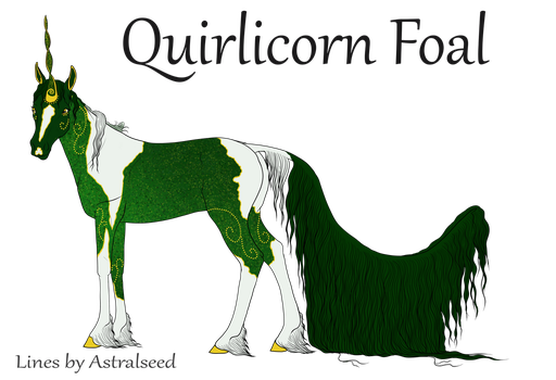 Flaked roan Quirlicorn by dontkillthekarma