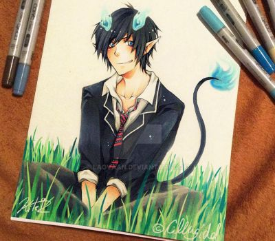 Ao no Exorcist - Rin /Collab with Killing-Idol by Laovaan