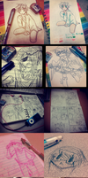 most of my instagram art dump as of 4-27-2013 by CaptainJellyroll