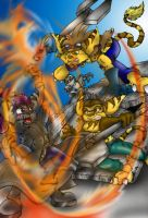 Dueling Lombaxes by RatchetandClankFans
