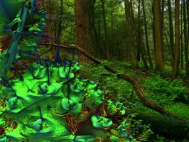 Greenery blobbing in the wood by PhotoComix2