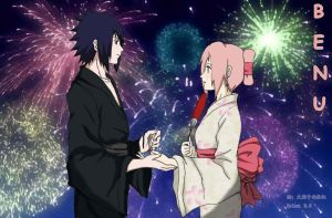 benu:sasusaku colored by pinkyflame