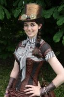 Steampunk Tophat worn with complete outfit by RubyLumiere