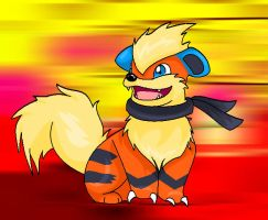 Aaron the growlithe by SnugglePuffs