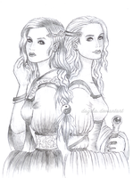 Arwen and Eowyn by Daytha