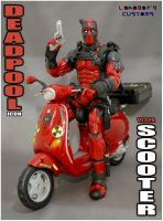 Deadpool Vespa Scooter by Lokoboys