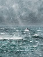 Ship in Storm by LJFHutch