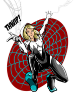 Spider Gwen, Swinging In! by jupejuperocket