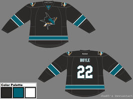 Re-brand the NHL: San Jose Third Concept by JoeK5