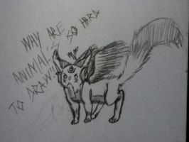 WHY ARE ANIMAL'S SO HARD TO DRAW!!?? by AbominalSnowDemon