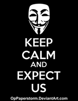 Keep Calm - Black Version by OpPaperStorm