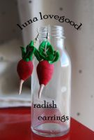 Radish earings by Tadadada