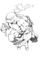 Michelangelo TMNT sketch by RobertAtkins