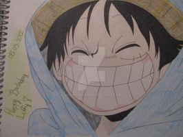 Happy B-day Luffy - Coloured by Vero-desu