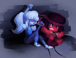 Ruby and Sapphire by Smearg