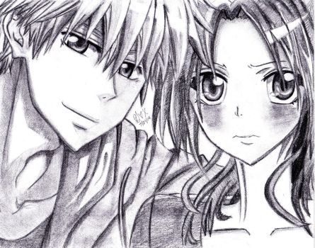 Misaki and Usui by starflow3r