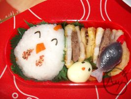 Chicken Bento by LepusDiscordia