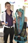 Professor Sycamore and Hatsune Miku by MichaelsComics
