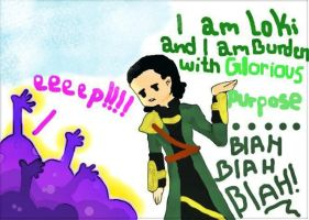 Loki dealing with fan girls these days by BunnyRue