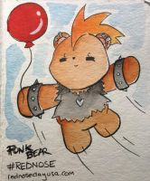 PUNK BEAR for RED NOSE DAY by ChibiCelina