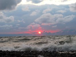 Lake Erie and its tricks 2 by OhioErieCanalGirl