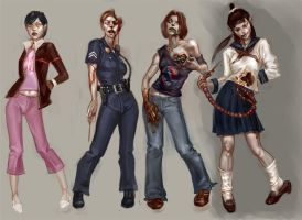 zombie girls by anotherdamian