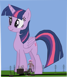 Twilight Sparkle Likes to Eat by OceanRailroader