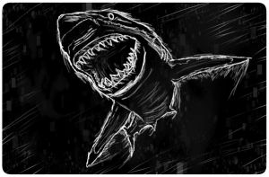 Shark sketch by Theresa42J