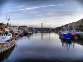 Fishing Boats in the Harbour by basement-ghost