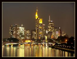 Frankfurt skyline by night 02 by kine80